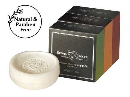 Edwin Jagger Natural Shaving Soap 3x65 g Refill